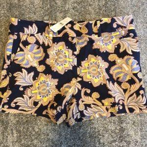 LOFT patterned shorts size 8 NEW